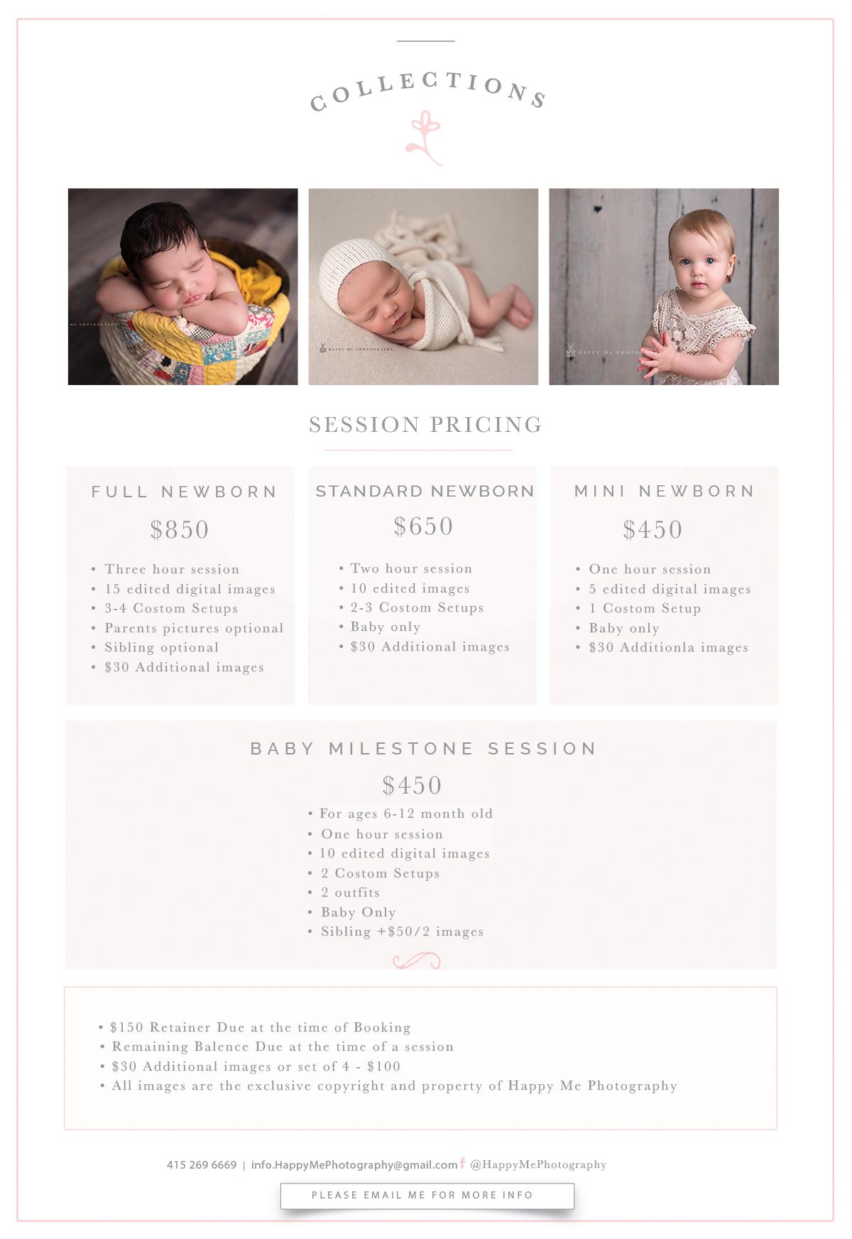 newborn photography pricing