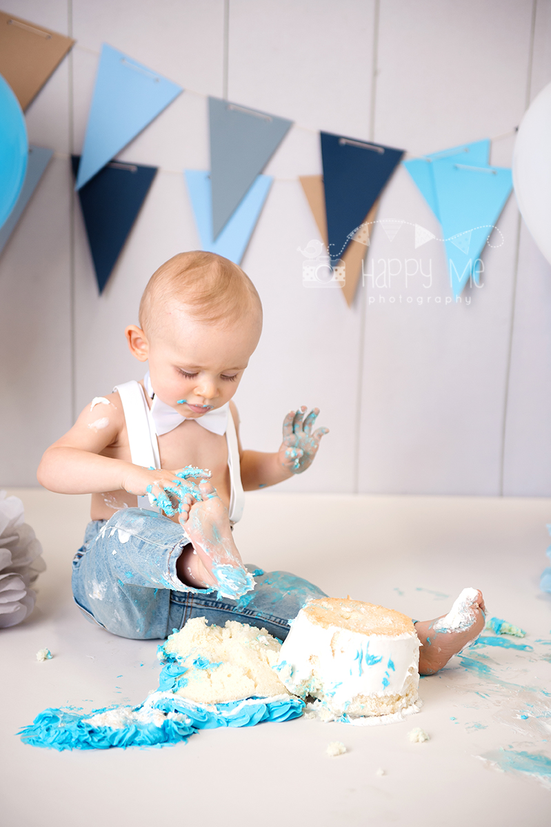 cake smash photography bay area boy