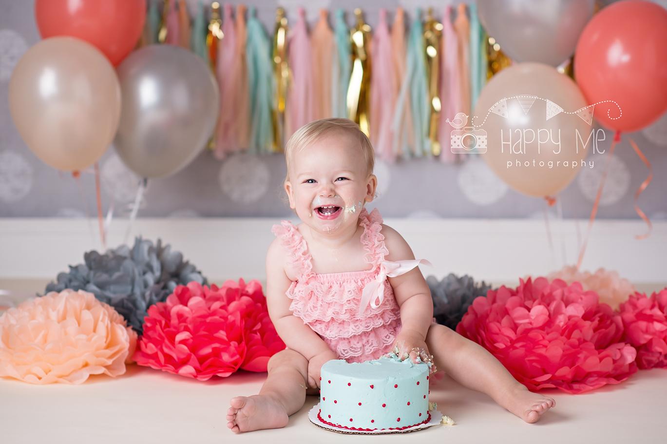 baby eating cake during cake smash bay area