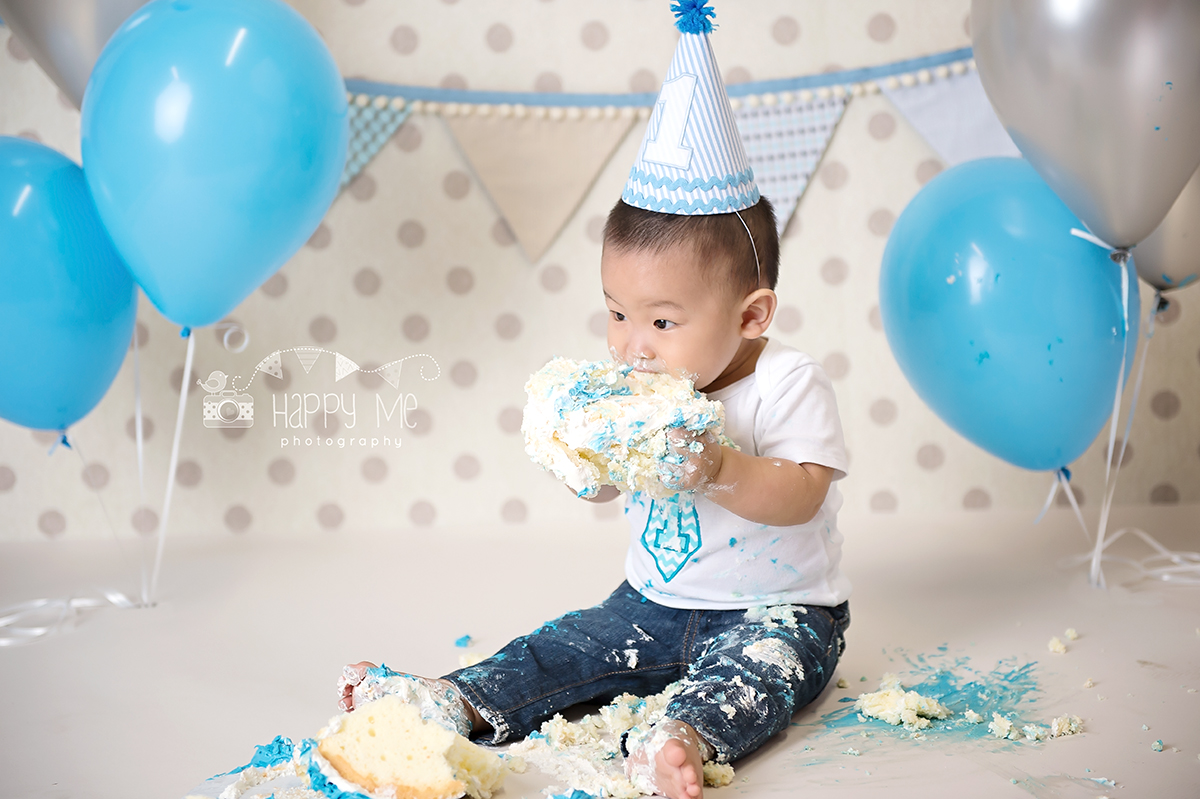 cake smash photographer bay area