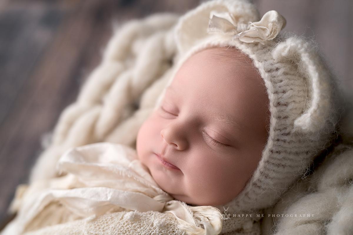 Newborn pictures baby girl in Menlo Park