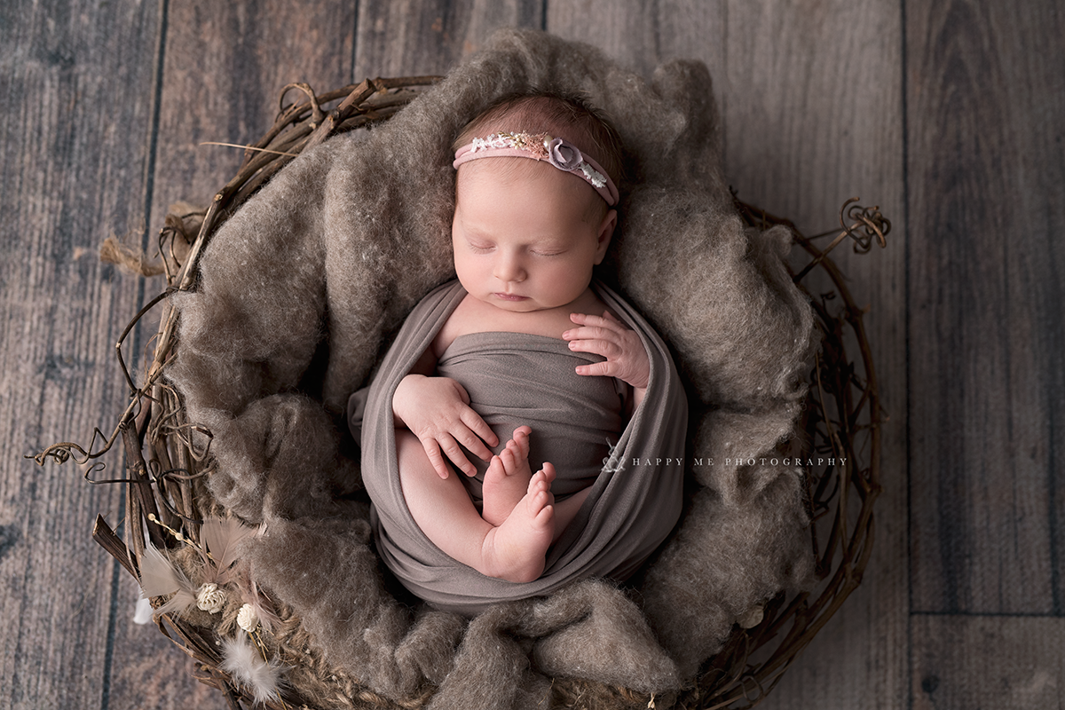 newborn picture of a baby girl