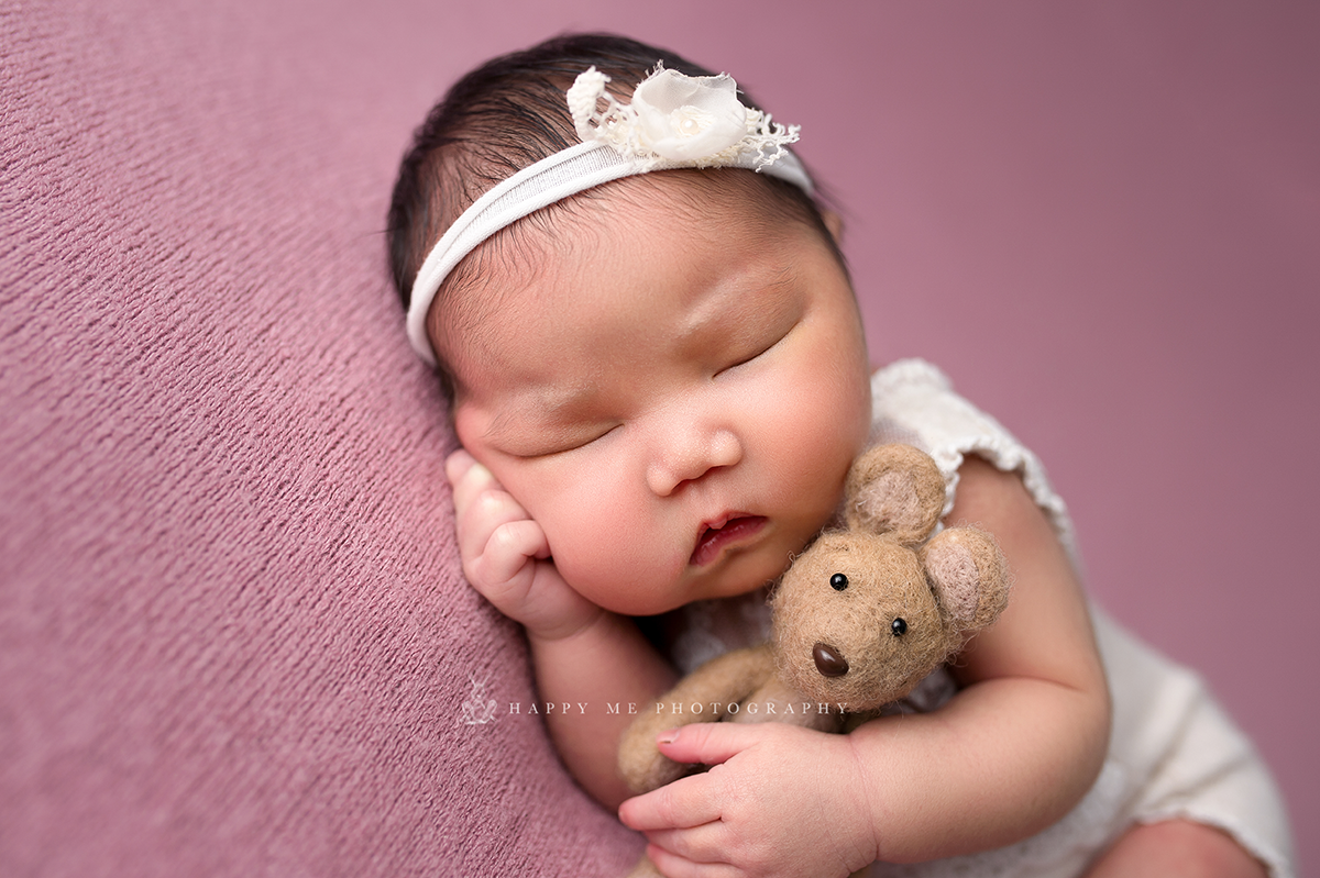 girl newborn session belmont